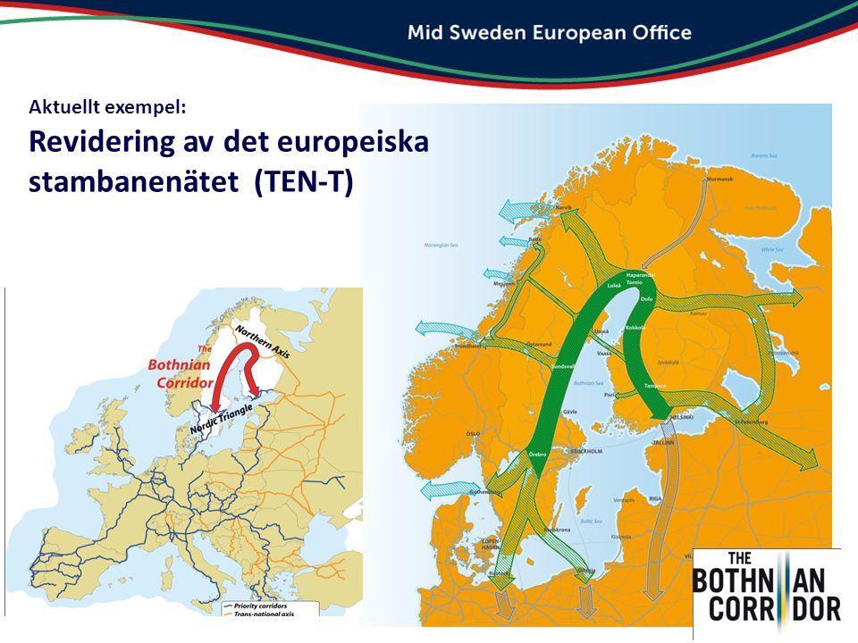 Aktuellt exempel: Revidering av det europeiska stambanenätet (TEN-T)