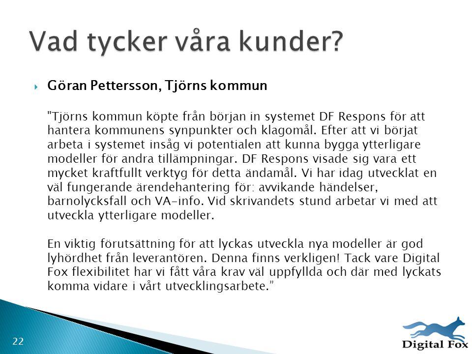 Göran Pettersson, Tjörns kommun
