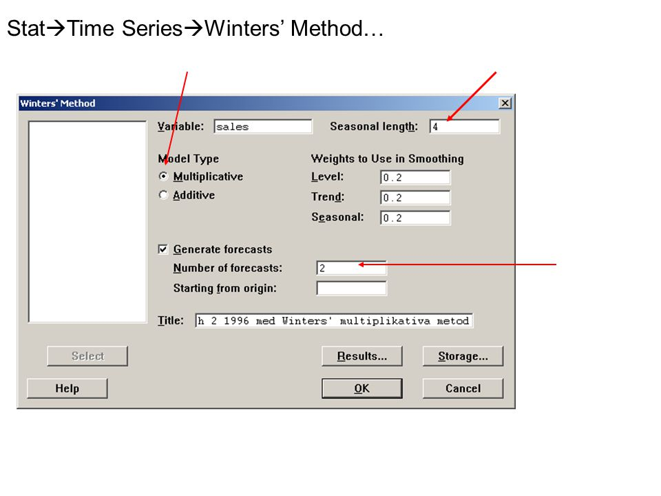 Stat  Time Series  Winters' Method…