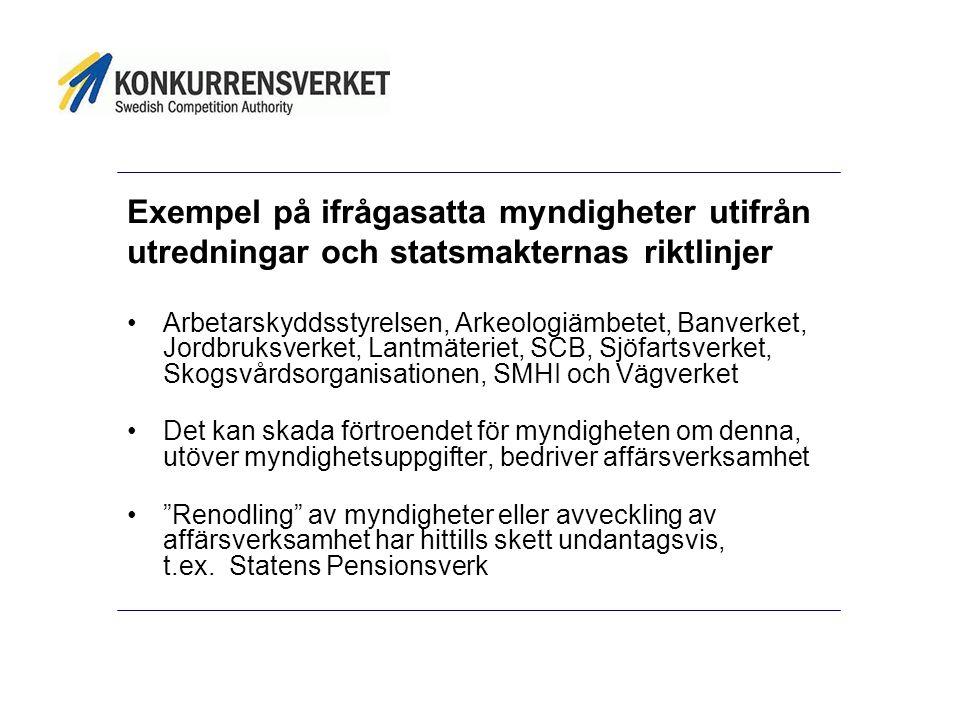 Bolagisering av statlig verksamhet m.m.