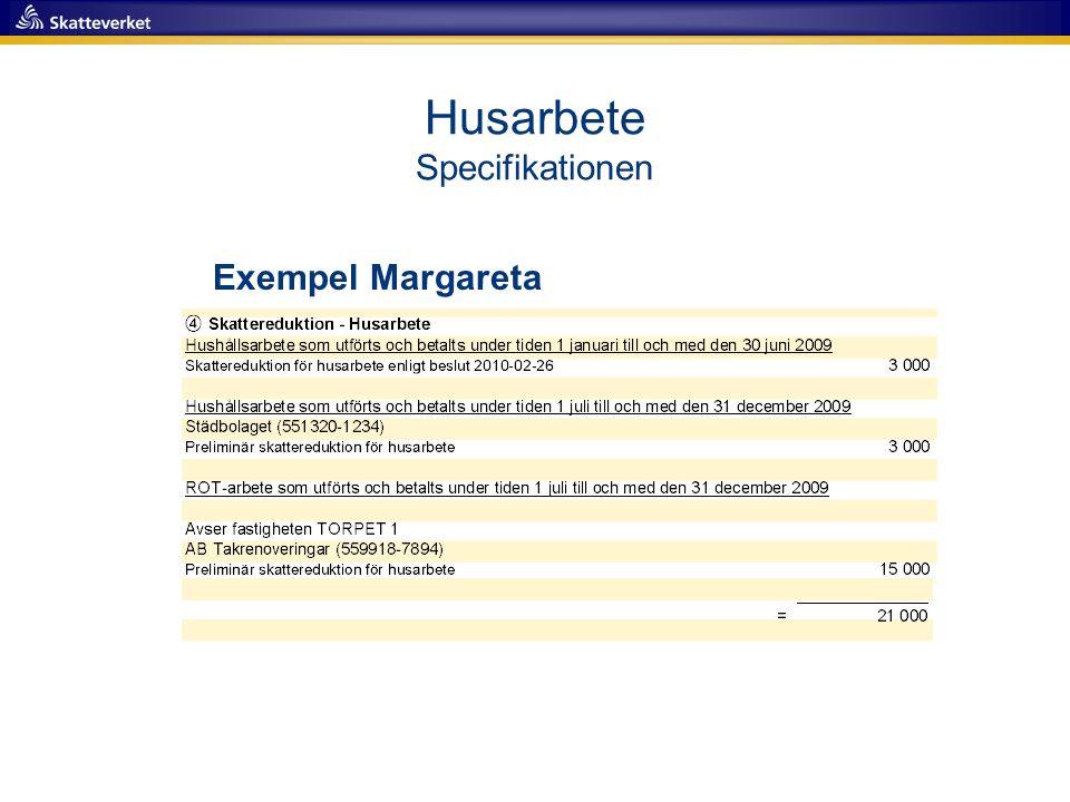 Husarbete Specifikationen Exempel Margareta