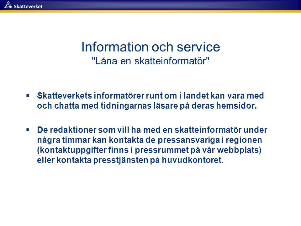 Information och service