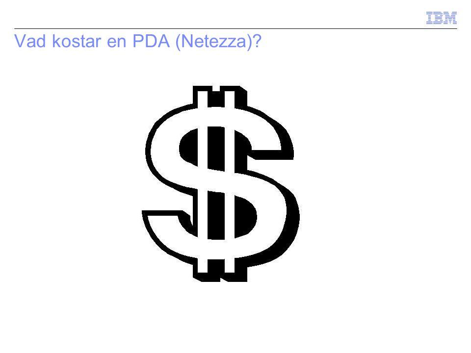 Vad kostar en PDA (Netezza)