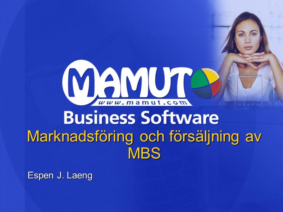 Marknadsföring och försäljning av MBS Espen J. Laeng
