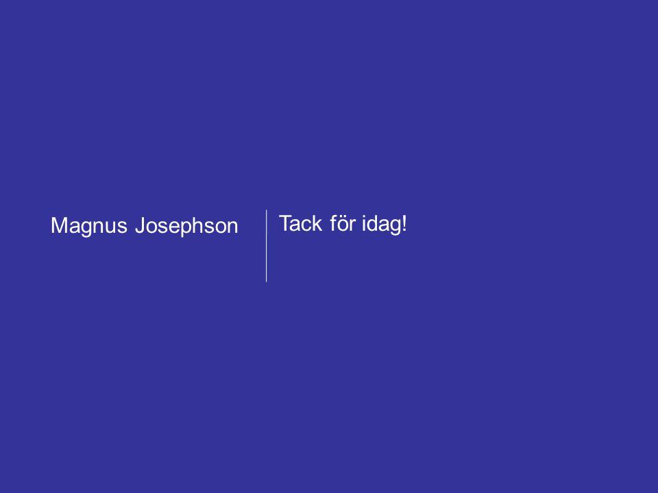 Magnus Josephson AB – Framgångsrik försäljning mot offentlig sektor 22 februari 2011 Forum för offentlig upphandling 45 Tack för idag! Magnus Josephso