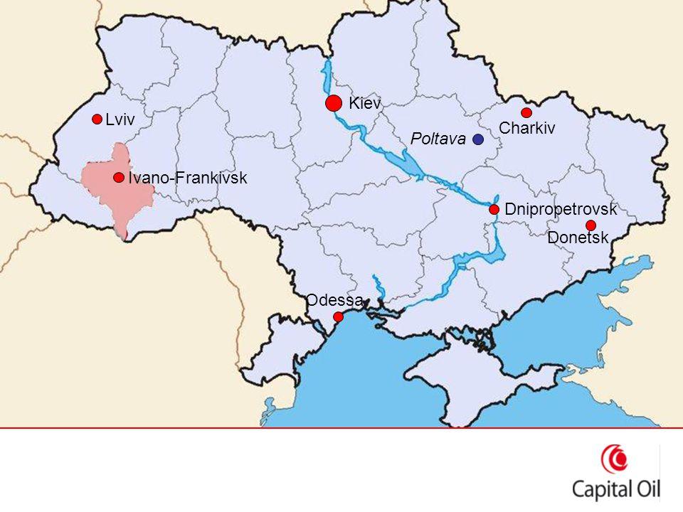 Kiev Dnipropetrovsk Lviv Poltava Donetsk Charkiv Ivano-Frankivsk Odessa