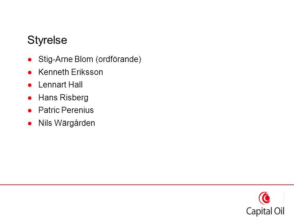 Styrelse ●Stig-Arne Blom (ordförande) ●Kenneth Eriksson ●Lennart Hall ●Hans Risberg ●Patric Perenius ●Nils Wärgården