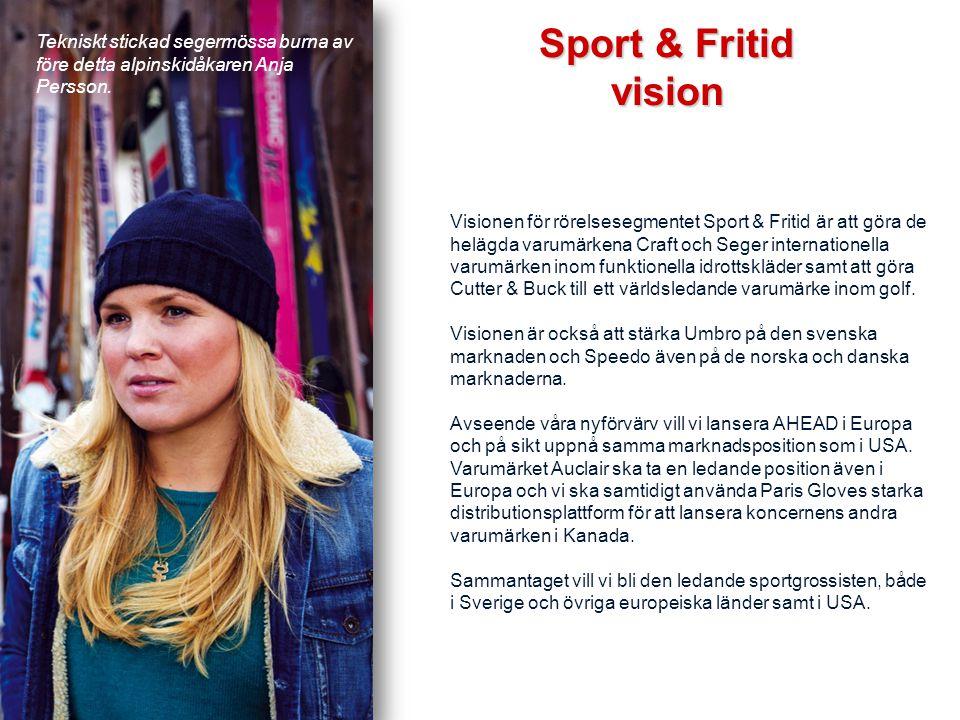 Tekniskt stickade mössor burna av Jessica Lindell Vikarby och Maria Pietilä-Holmner. Visionen för rörelsesegmentet Sport & Fritid är att göra de heläg