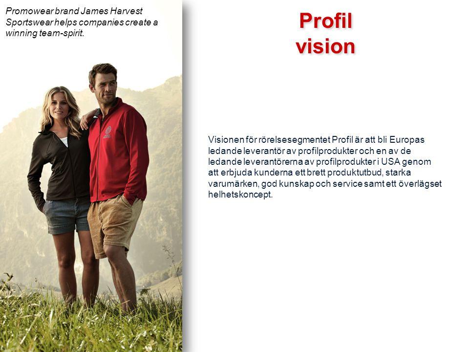 Visionen för rörelsesegmentet Profil är att bli Europas ledande leverantör av profilprodukter och en av de ledande leverantörerna av profilprodukter i