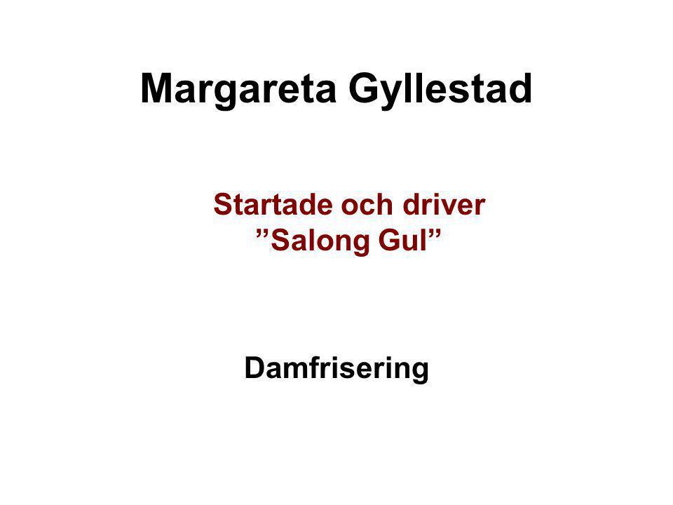 """Margareta Gyllestad Startade och driver """"Salong Gul"""" Damfrisering"""