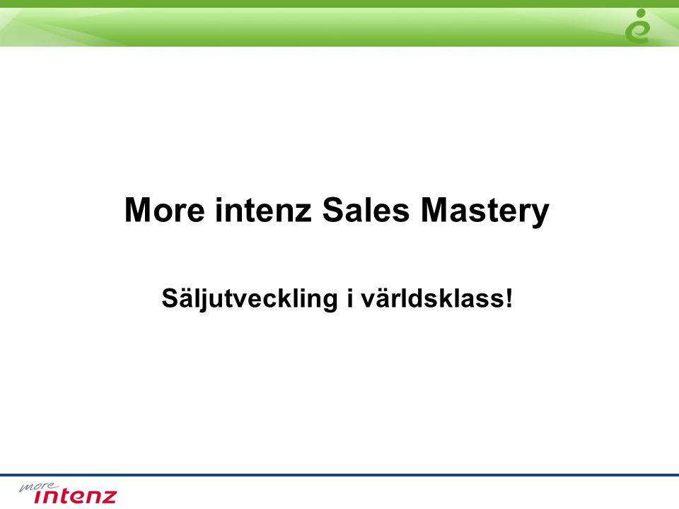 More intenz Sales Mastery Säljutveckling i världsklass!