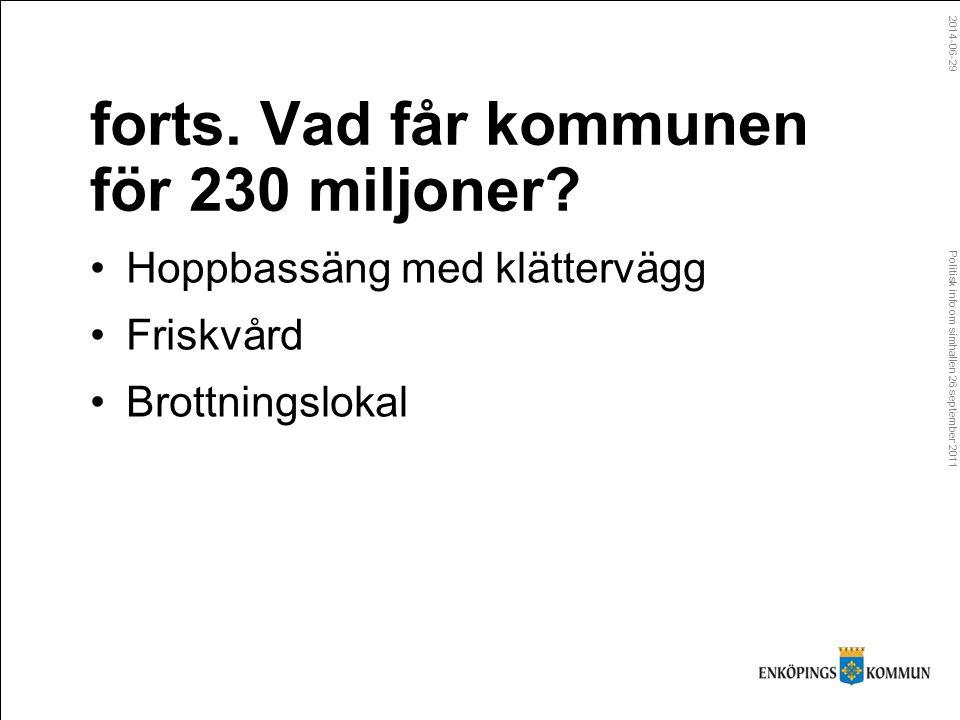 Politisk info om simhallen 26 september 2011 2014-06-29 forts.
