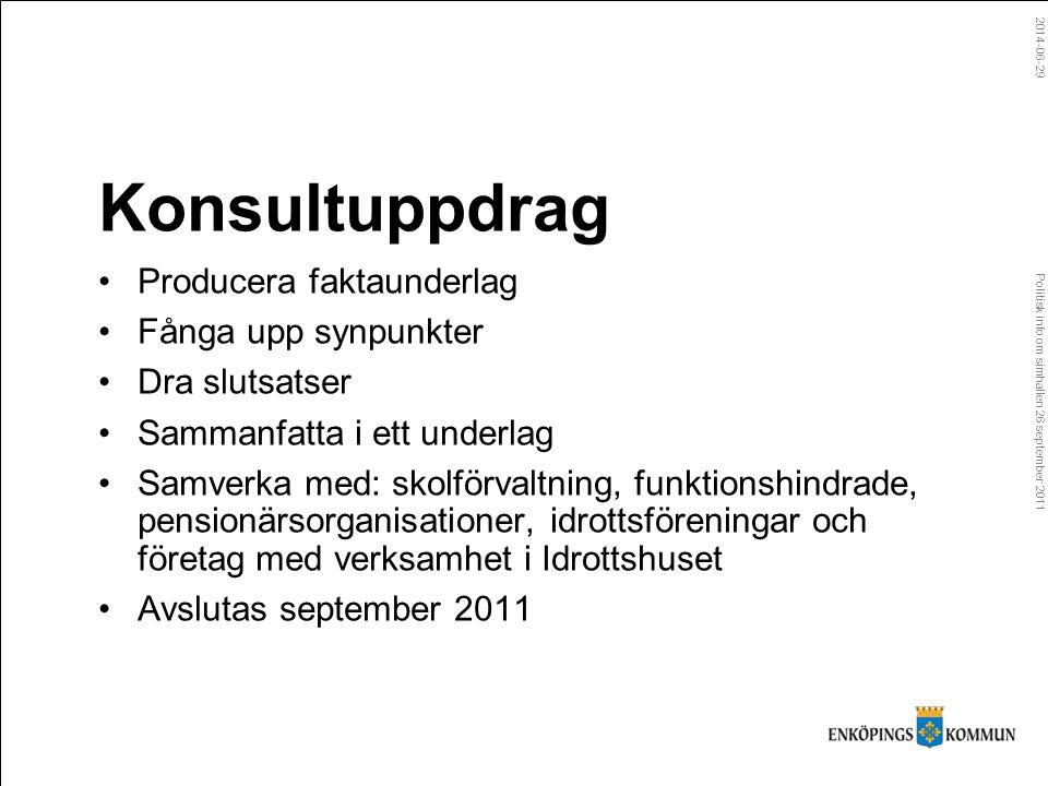 Politisk info om simhallen 26 september 2011 2014-06-29 Vad får kommunen för 230 miljoner.