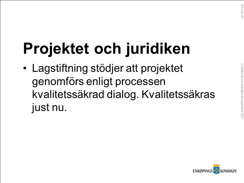 Politisk info om simhallen 26 september 2011 2014-06-29 Grundförutsättningar Egen regiLösning i samverkan MarkBehålls i kommunal ägoKommunen säljer mark eller upplåter som tomträtt.