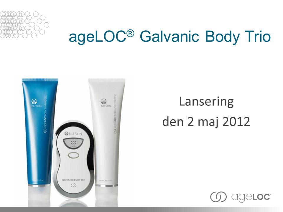 ageLOC ® Galvanic Body Trio Lansering den 2 maj 2012