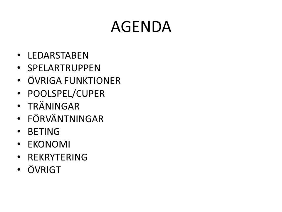 LEDARSTABEN • Peter Lindberg (HC) • Peter Ritzén (AC) • Peter Svensson (AC) • Örjan Knutsson (MT) • Maria Örtengren (TM + web + kiosk) • Lisbeth Karlsson (EK) • Lotte Arnestad (Föräldrarepresentant)
