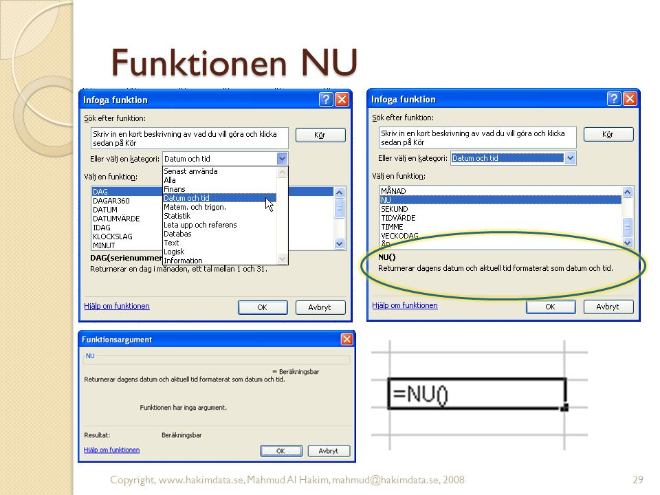 Funktionen NU Copyright, www.hakimdata.se, Mahmud Al Hakim, mahmud@hakimdata.se, 200829