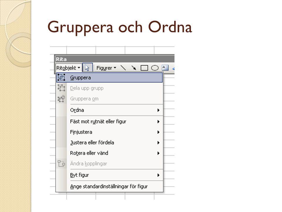 Gruppera och Ordna