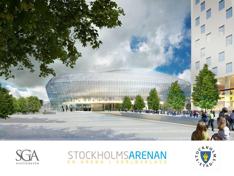 2  Av staden prioriterat utvecklingsområde  Stockholm har saknat en stor idrotts och evenemangsarena som klarar internationella musikevenemang och idrottsevenemang som fotboll, motorsport och hästhoppning  En huvudstad bör kunna erbjuda ett komplett nöjes- och kulturutbud  Redan ett etablerat evenemangsområde  Synergieffekter och samverkan  God tillgänglighet; infrastruktur, nära staden samt kollektivtrafik Motiv till utveckling av Globenområdet