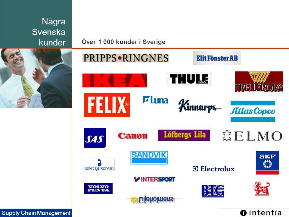 Template ver.1.2 / 8 Supply Chain Management Några Svenska kunder Över 1 000 kunder i Sverige