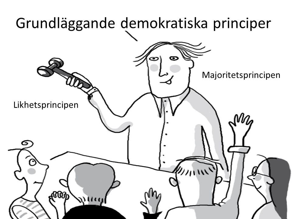 Grundläggande demokratiska principer Likhetsprincipen Majoritetsprincipen