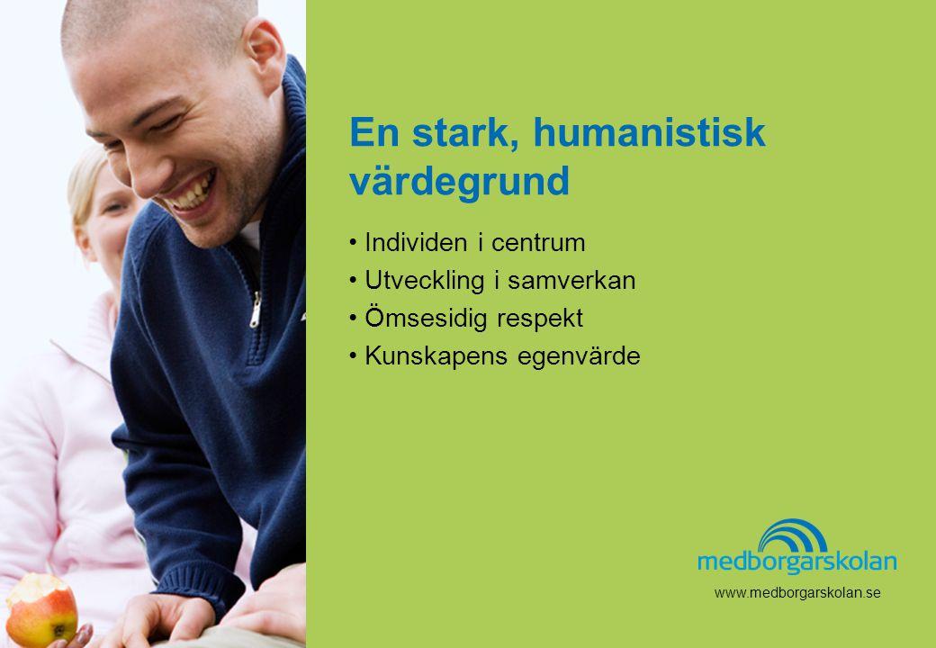 www.medborgarskolan.se En stark, humanistisk värdegrund • Individen i centrum • Utveckling i samverkan • Ömsesidig respekt • Kunskapens egenvärde www.