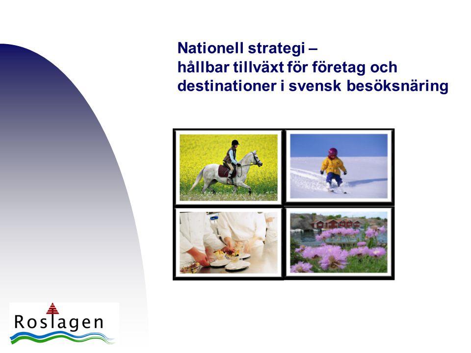 Nationell strategi – hållbar tillväxt för företag och destinationer i svensk besöksnäring