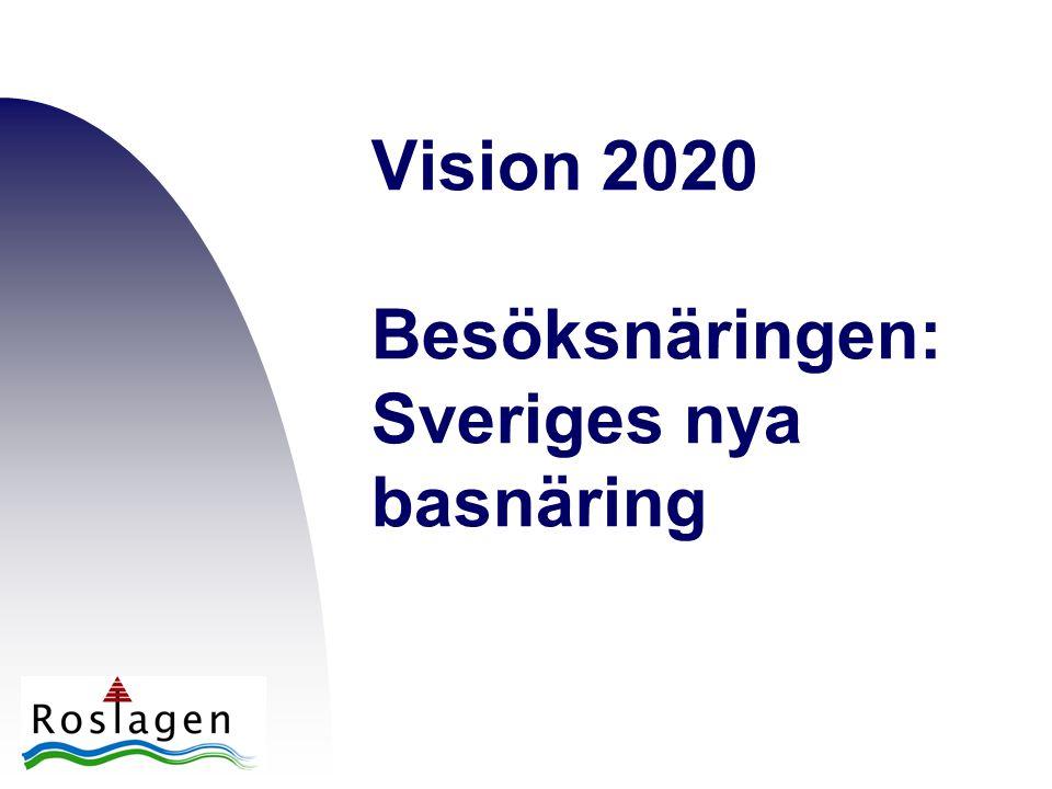 Vision 2020 Besöksnäringen: Sveriges nya basnäring