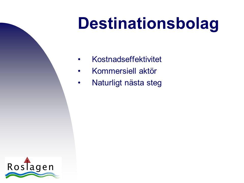 Destinationsbolag •Kostnadseffektivitet •Kommersiell aktör •Naturligt nästa steg