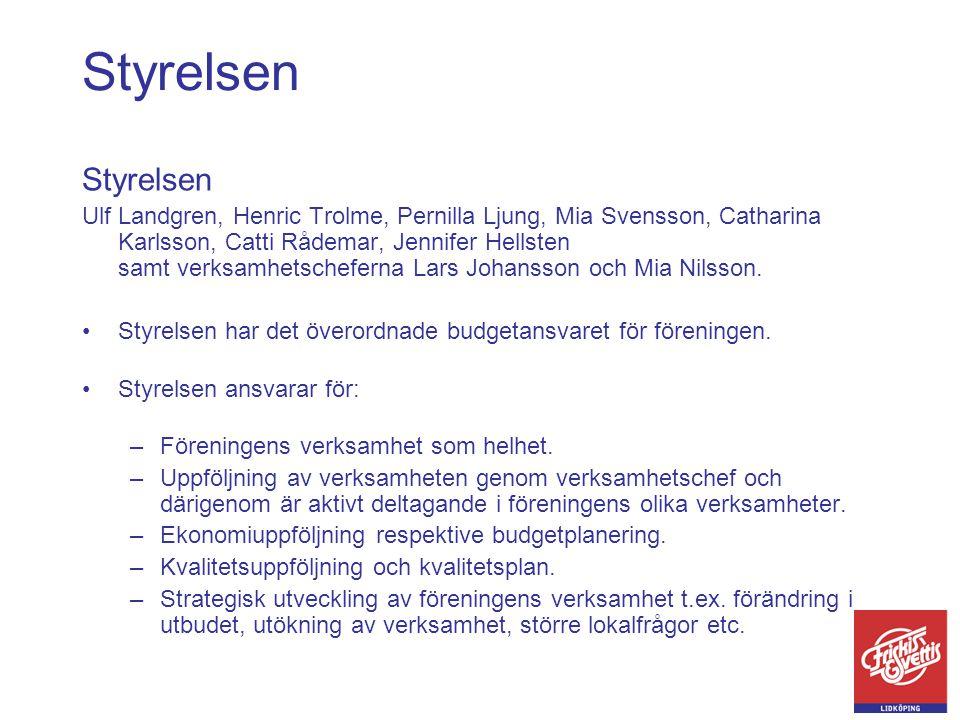 Styrelsen Ulf Landgren, Henric Trolme, Pernilla Ljung, Mia Svensson, Catharina Karlsson, Catti Rådemar, Jennifer Hellsten samt verksamhetscheferna Lar
