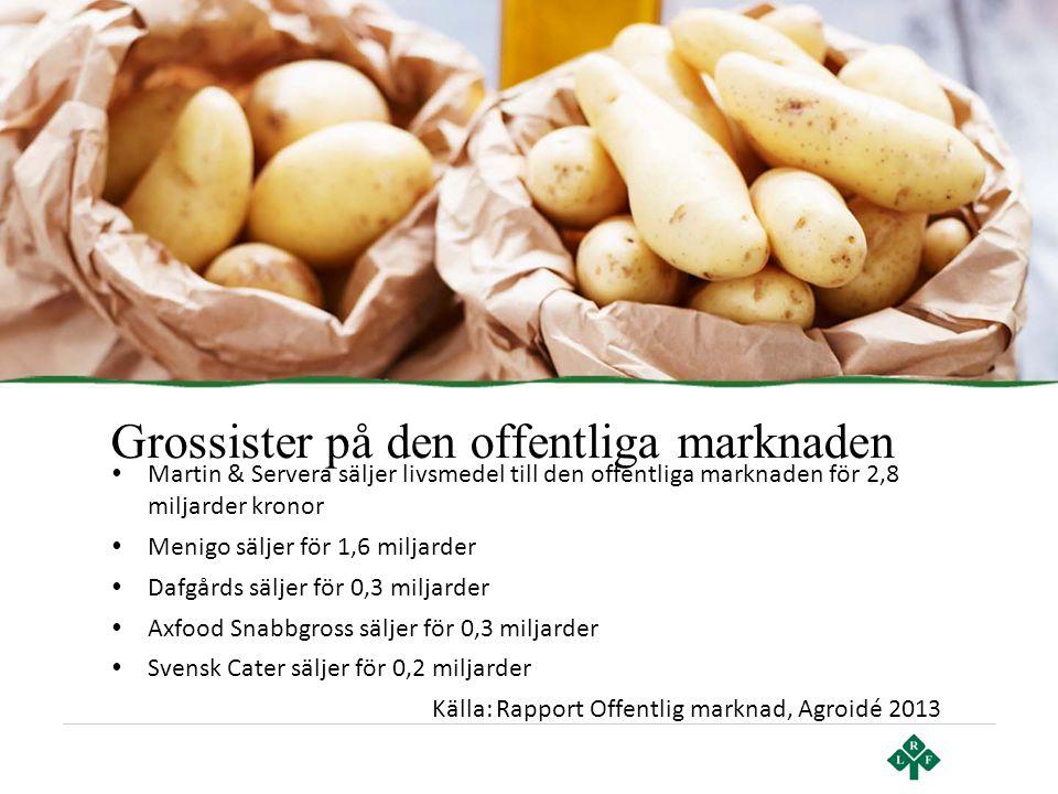 Grossister på den offentliga marknaden • Martin & Servera säljer livsmedel till den offentliga marknaden för 2,8 miljarder kronor • Menigo säljer för