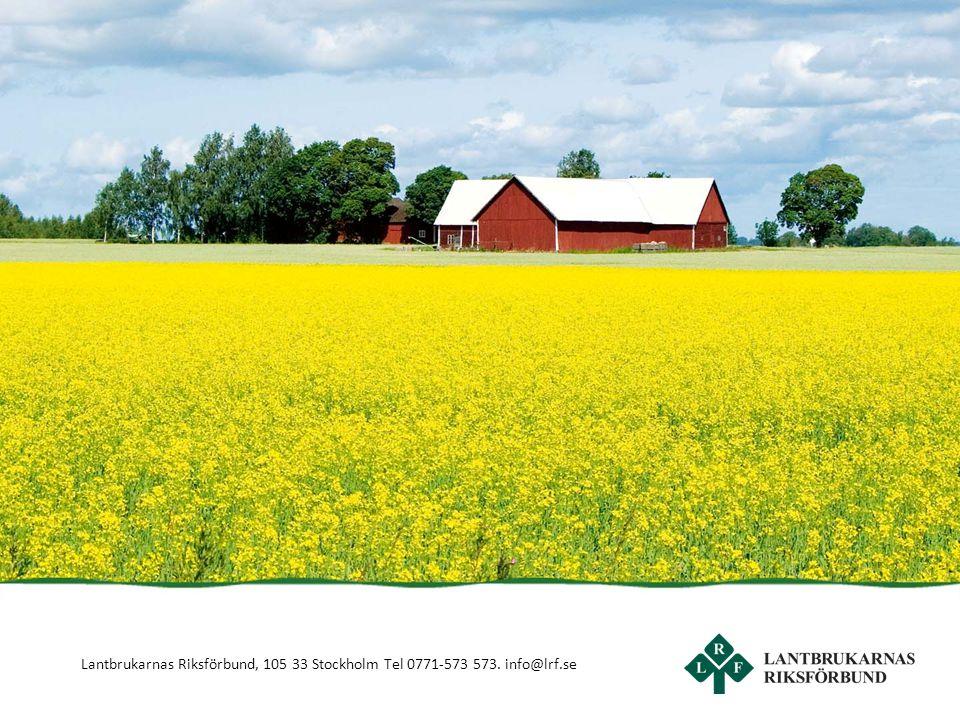 Lantbrukarnas Riksförbund, 105 33 Stockholm Tel 0771-573 573. info@lrf.se