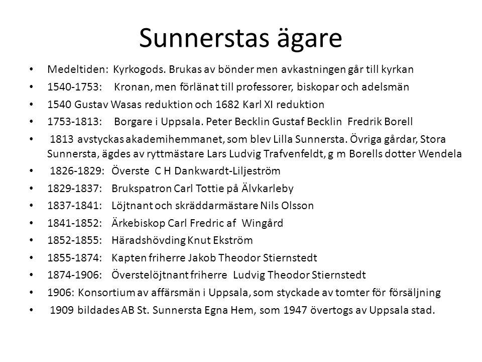 Sunnerstas ägare • Medeltiden: Kyrkogods.