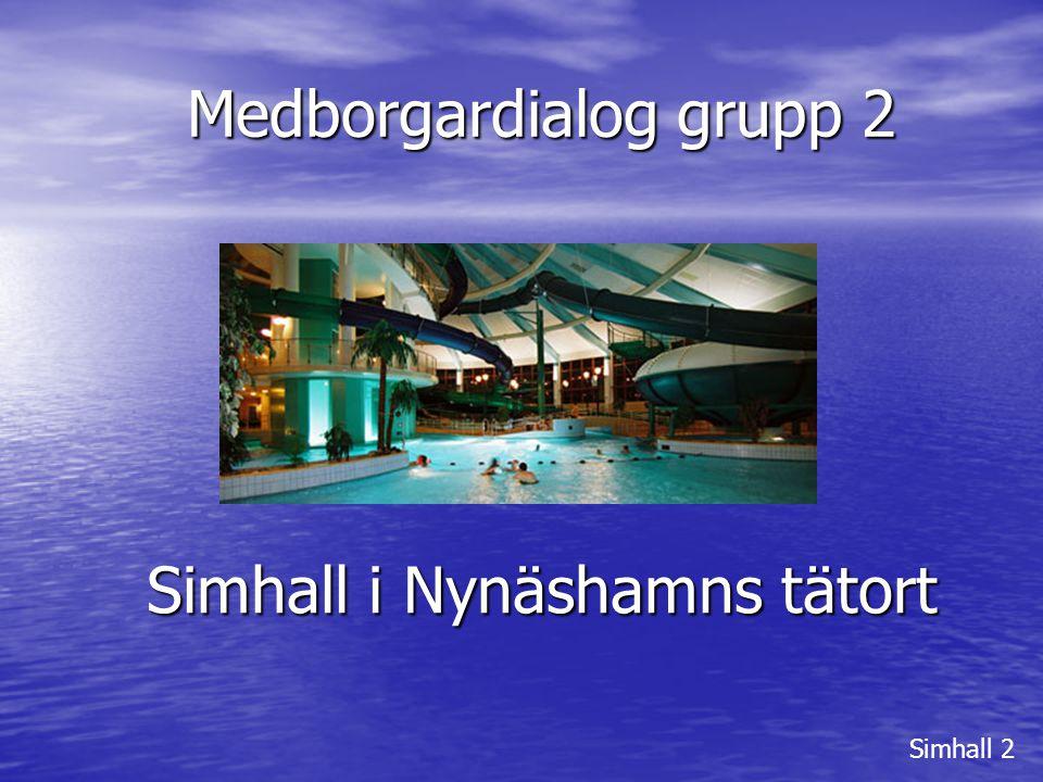 SIMHALL 2 Deltagare: Mats Pettersson Kjell Börjesson Ann-Britt Forsbom Walentin Nilsson PO Nordin Laila Törner Pelle Östlund Simhall 2