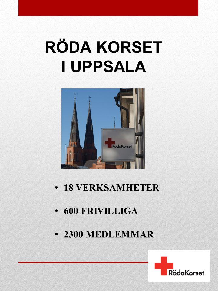 RÖDA KORSET I UPPSALA • 18 VERKSAMHETER • 600 FRIVILLIGA • 2300 MEDLEMMAR