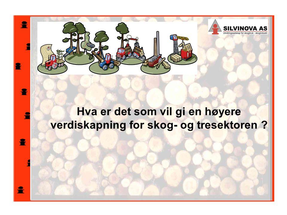 Hva er det som vil gi en høyere verdiskapning for skog- og tresektoren ?