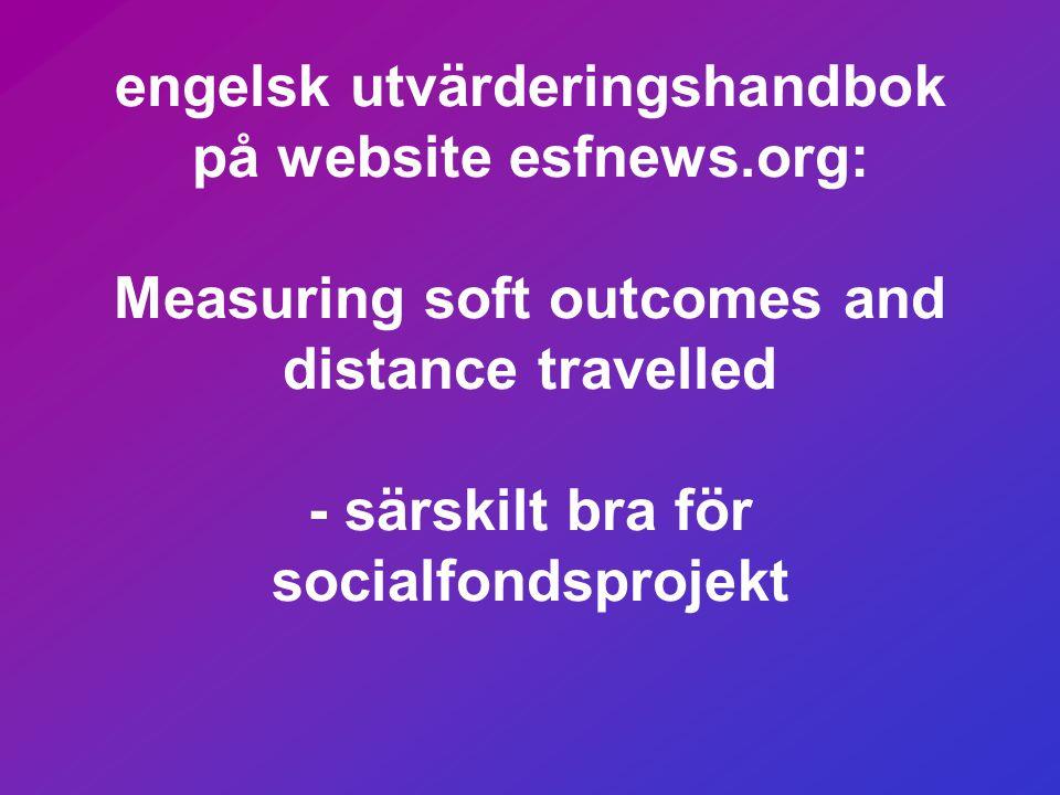 ….och genom att mäta: • antalet deltagare som deltar i frivilligt arbete • antalet arbetsgivare som deltog med praktikplats, som skulle vilja anställa