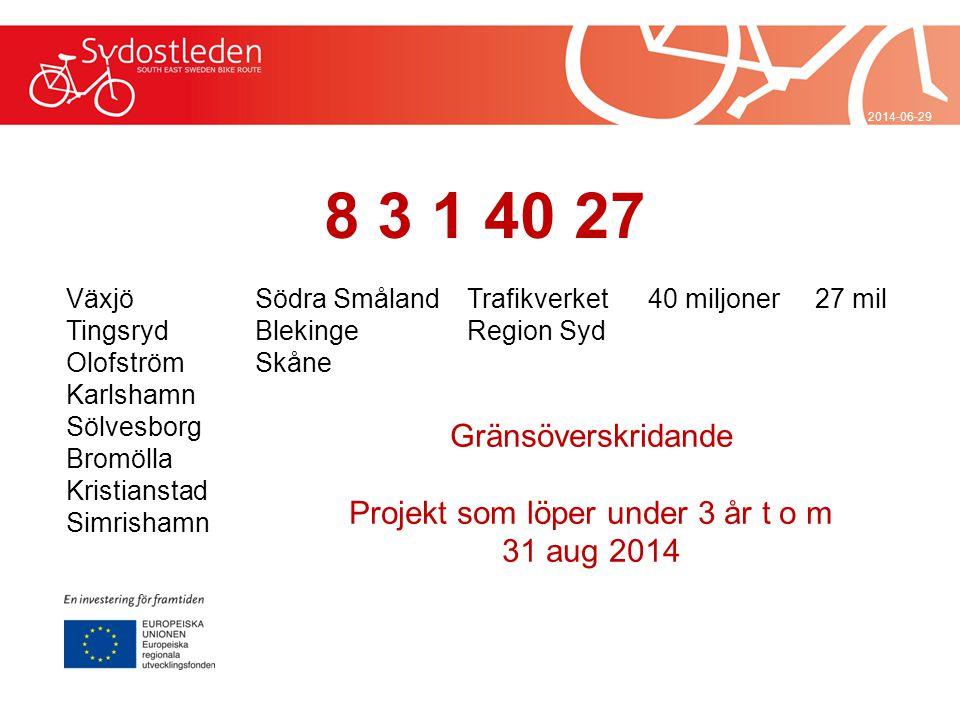 2014-06-29 Finansiering 12 partners har lagt en grund om 24 milj och växlat upp med 16 miljoner EU-medel från partnerskapet Småland och Öarna Projektfinansiering investeringar endast i Småland.
