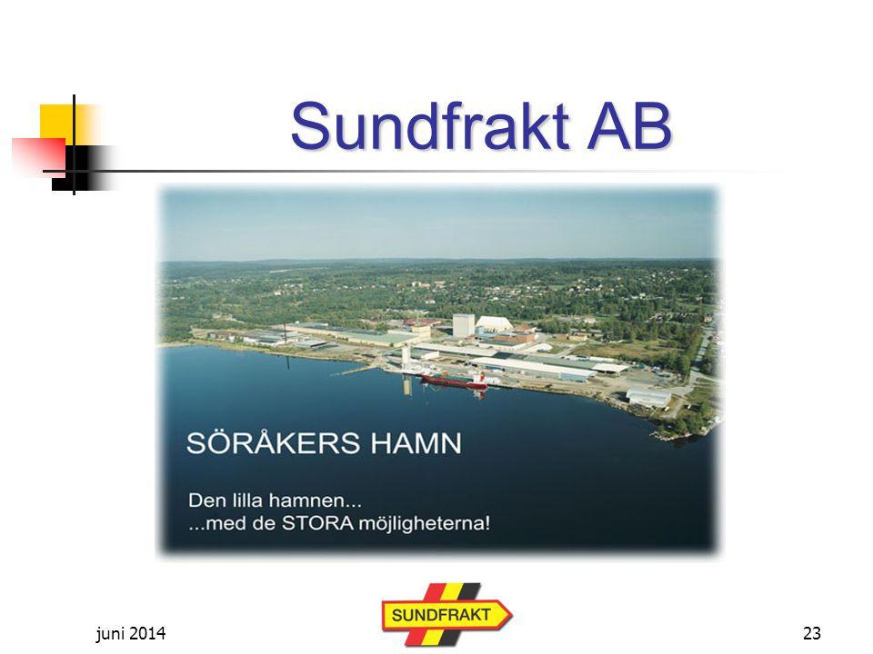 juni 2014 Sundfrakt AB 23