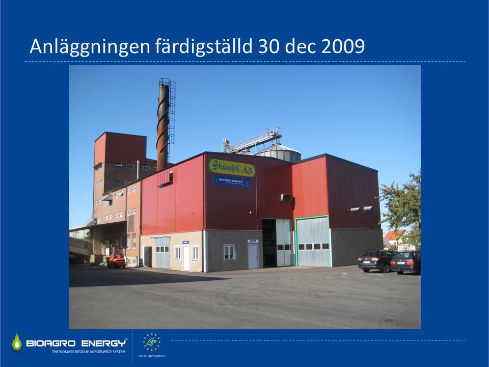 Anläggningen färdigställd 30 dec 2009