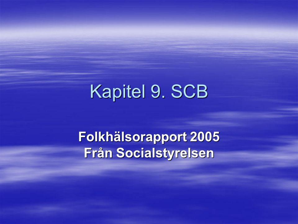 Kapitel 9. SCB Folkhälsorapport 2005 Från Socialstyrelsen