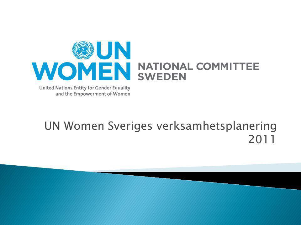 UN Women Sveriges verksamhetsplanering 2011