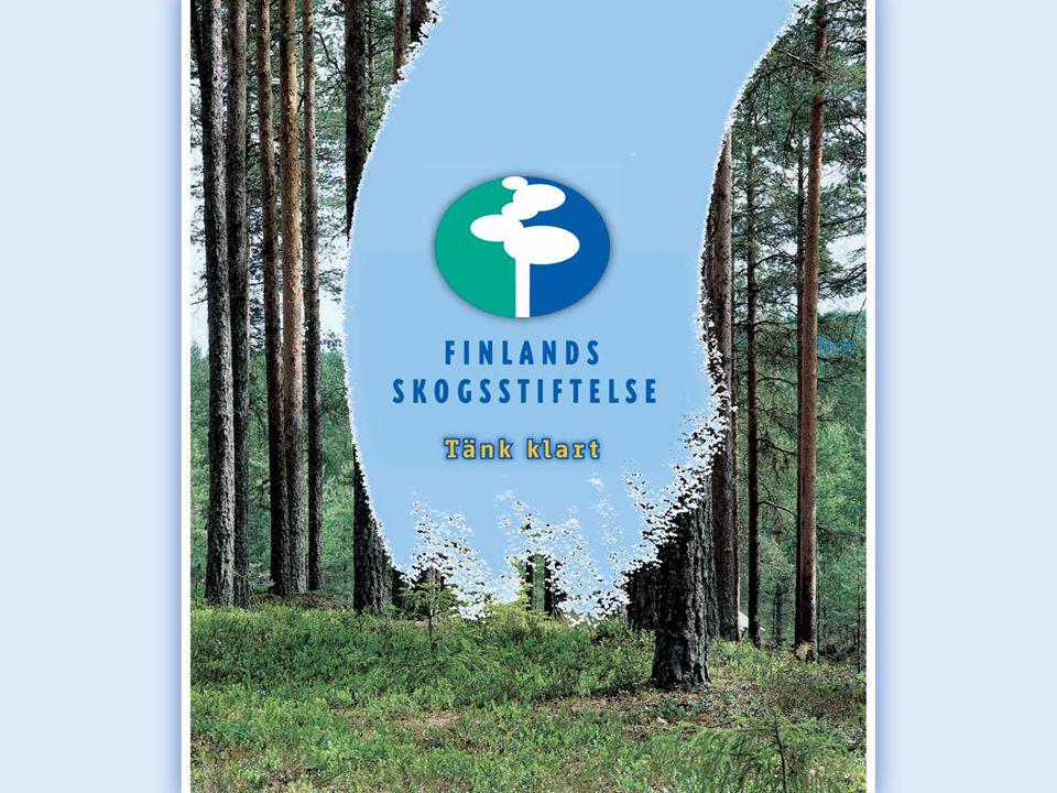 Finlands Skogsstiftelse som finansiär Skogsstiftelsen finansierar projekt som hör till skogssektorns forskning samt utredningar i skogsbranschen.