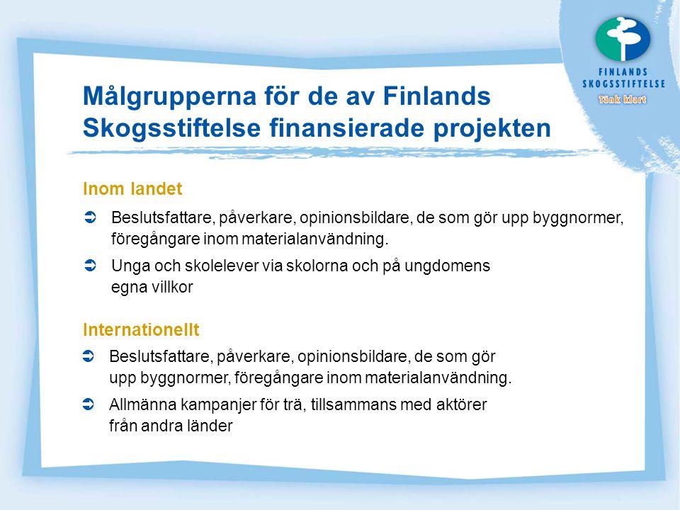 Finlands Skogsstiftelses ekonomi Medlen till Skogsstiftelsen inflyter i form av frivilliga säljfrämjande avgifter.