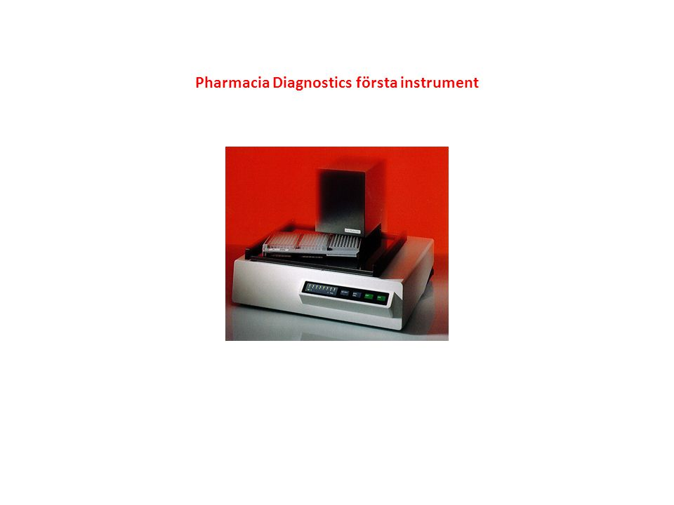 Pharmacia Diagnostics första instrument