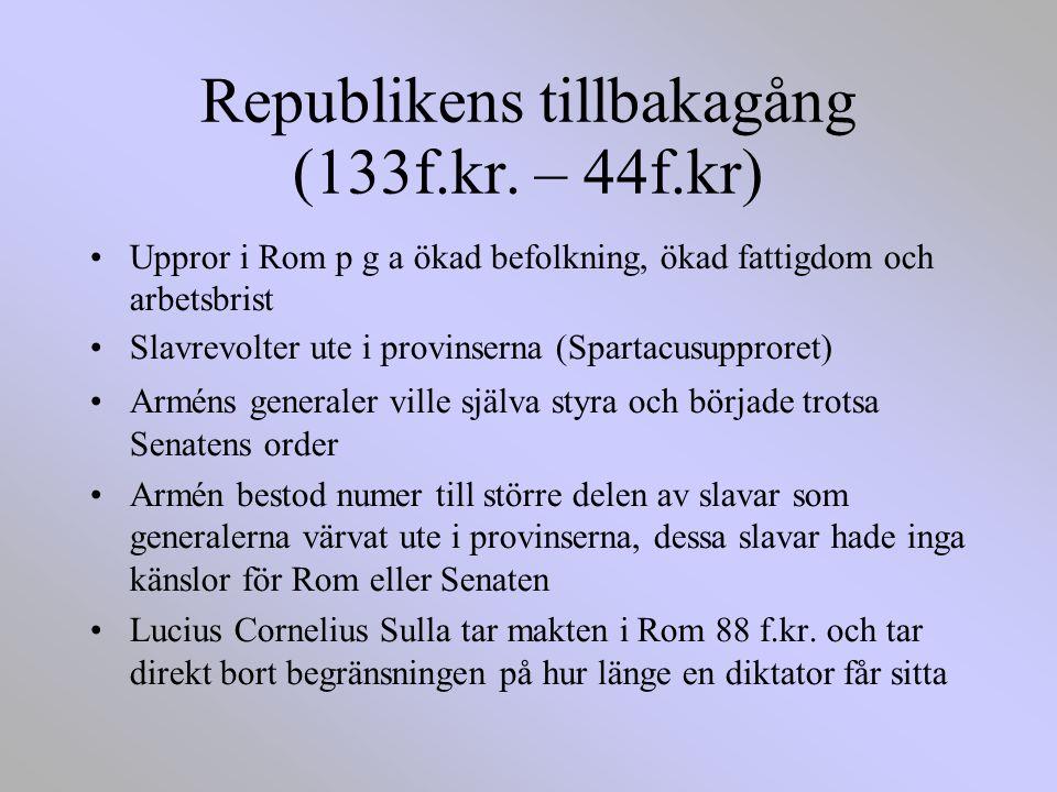 Republikens tillbakagång (133f.kr.