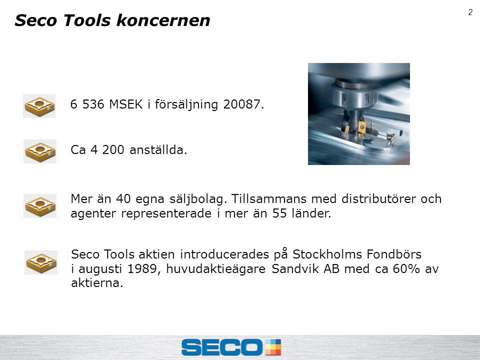 2 Seco Tools koncernen 6 536 MSEK i försäljning 20087.