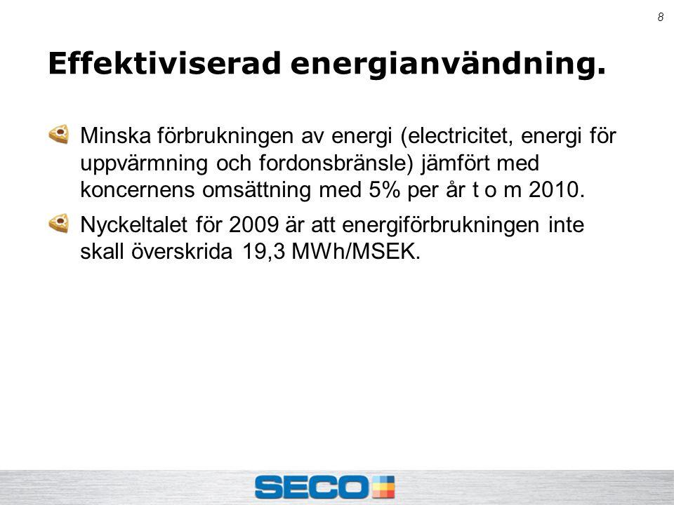 8 Effektiviserad energianvändning.
