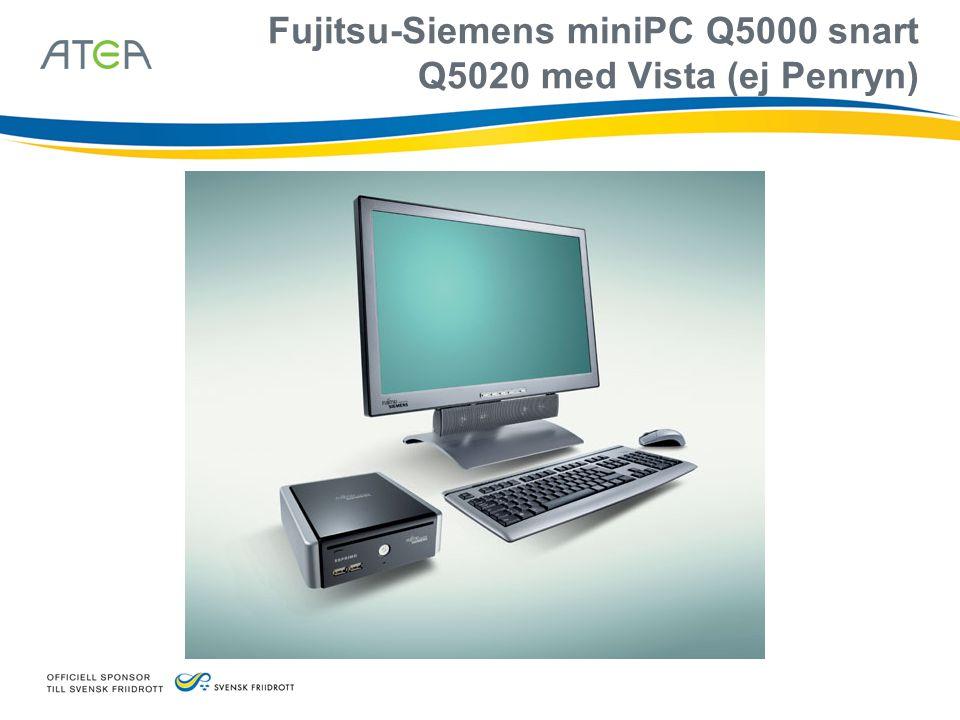 Fujitsu-Siemens miniPC Q5000 snart Q5020 med Vista (ej Penryn)