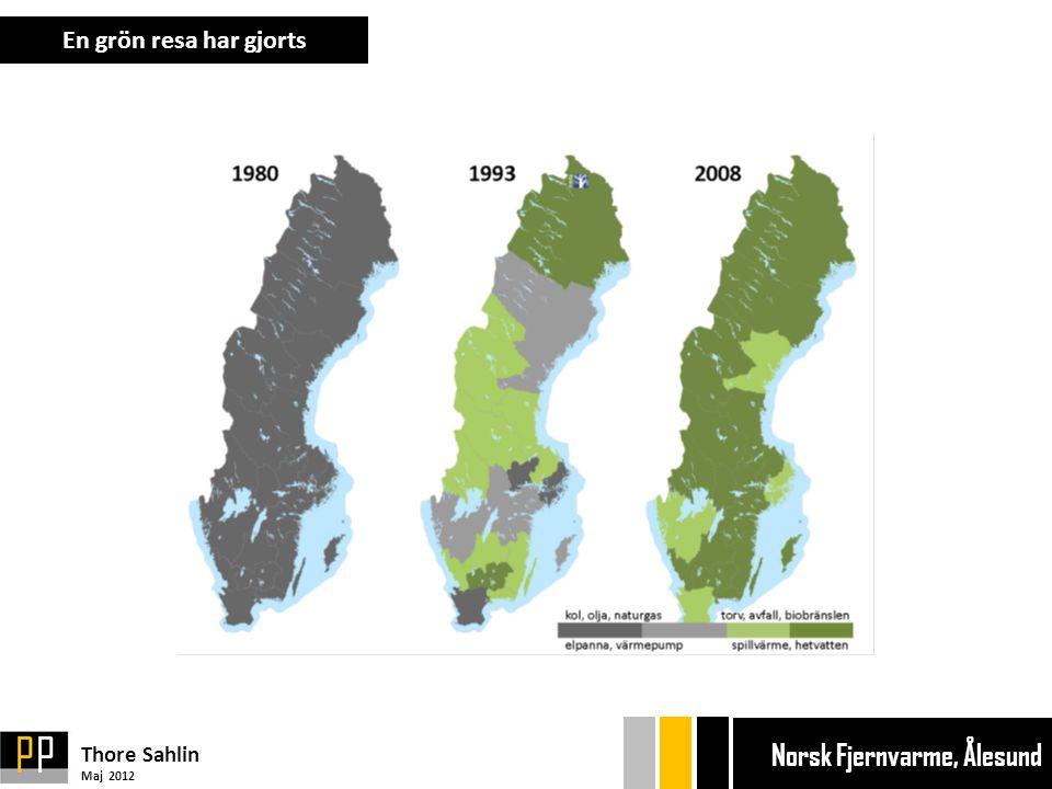 En grön resa har gjorts Thore Sahlin Maj 2012 Ekonom gänget Bryggan Ekonom gänget Bryggan Norsk Fjernvarme, Ålesund